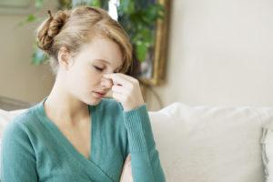 Symptome bei Nasennebenhöhlenentzündung